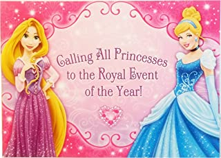 Disney Princess Party Invitations. 16 Invitations and 16 Thank You Cards. Bundle of 2.