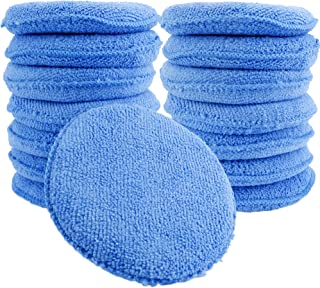 Augshy 15 Pcs Standard Microfiber Applicator Pads - Blue Wax Applicator