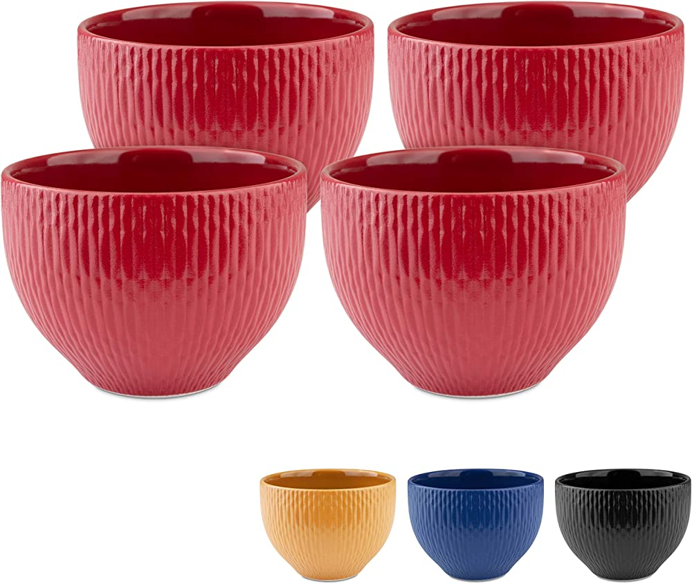 Melox set di 4 tazze da cappuccino, 4 x 200 ml, in porcellana