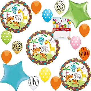 Jungle Safari Baby Shower Party Supplies Balloon Decoration Bundle