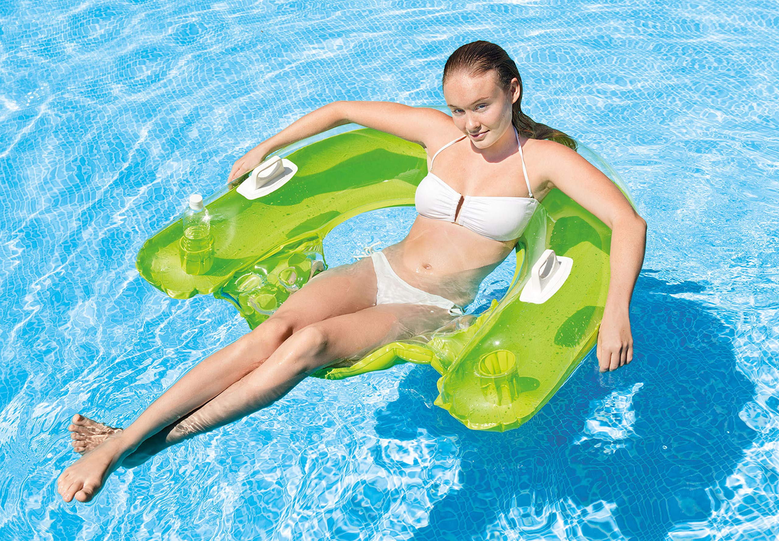 Intex 58859NP Asiento para Piscina, Unisex, Green/Orange, 152 x 99 ...