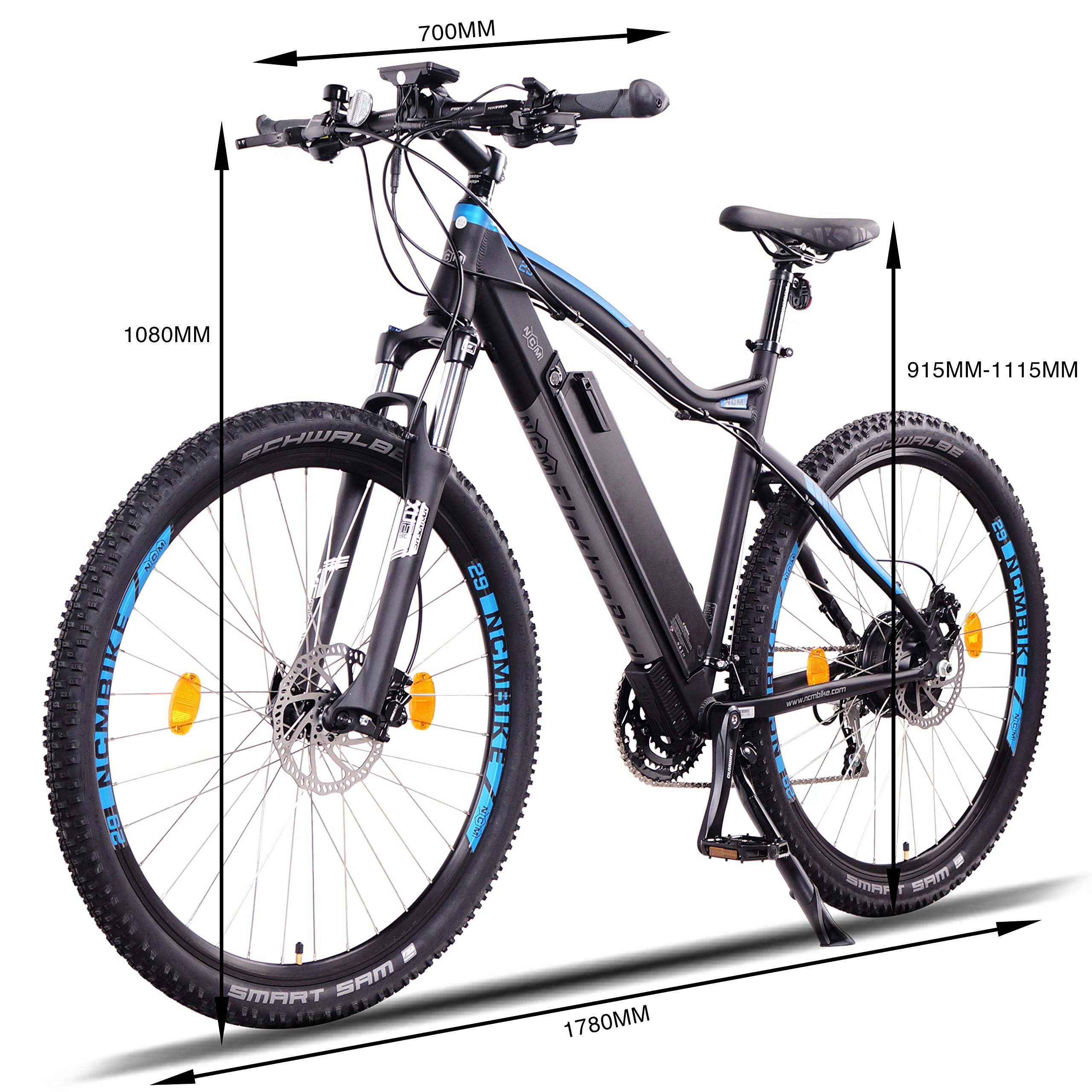 NCM Moscow Plus Bicicleta eléctrica de montaña, 250W, Batería 48V 16Ah • 768Wh, Negro 29