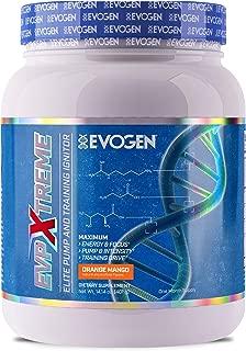 Evogen EVP Xtreme | Elite Pump & Training Ignitor, Citrulline, Nitrosigine, Glycerophosphates, Beta-Alanine | 24 Servings (Orange Mango, 24 Servings)