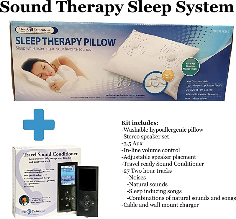 Sound Therapy Sleep System By Hear Central Sleep Therapy Tinnitus Music Pillow Travel Sound Conditioner Helping The World Sleep Better