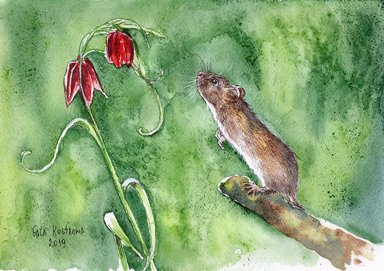 Mouse original 25% OFF watercolor Sale item painting animal