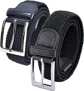Hombres 2 cinturones elásticas Set de Regalo (cintura tamaños 80cm - 150cm)
