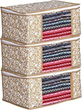 Porchex Presents Non Woven Saree Cover Storage Bags for Clothes with primum Quality Combo Offer Saree Organizer for Wardrobe/Organizers for Clothes/Organizers for Wardrobe Pack of 8