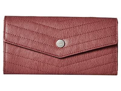 Lodis Accessories Carmel Luna Clutch Wallet (Rosewood) Wallet Handbags