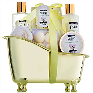 Jasmine & Rose Deluxe Spa Gift Basket for Women. Voted #1 Best Gift for Wife! Bath Gift Set includes Bath Bombs, Bath Salts, Body Butter, Bubble Bath & More!