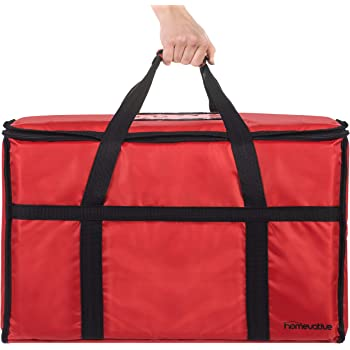 """Homevative XL Nylon Thermal Insulated Food Delivery and Reusable Grocery Bag - For Catering, Restaurants, Delivery Drivers, Uber Eats, Grubhub, Postmates, Shipt, Instacart, and more, 22"""" x 14"""" x 13"""""""