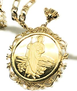 Saint Jude Pendant Necklace Figaro 26