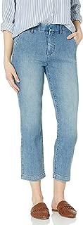 Goodthreads Amazon Brand Women's Boyfriend Slit Pocket Jean, Ocean Wash 32