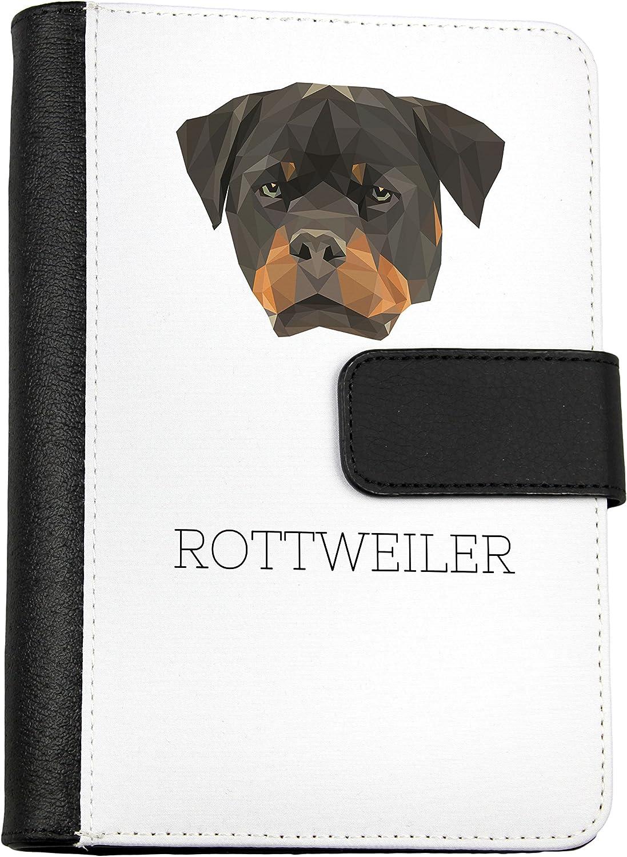 Rottweiler, Notizbuch von Öko-Leder mit einem Hund, geometrisch B075PX7DT5 | Flagship-Store