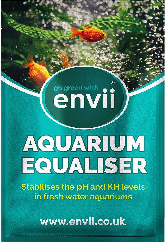 envii Aquarium Equaliser – Regulador para pH del Acuario Que Equilibra y Estabiliza los Niveles de pH, KH y GH - Funciona instantáneamente - Trata 500l