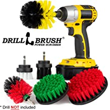 The Ultimate Drill Brush Attachment Spin Brush Power Scrubber Variety Cleaning Kit - Great For Shower Scrubbing, Carpet Cleaning, Grout Scrubbing, and Tile Cleaning- Try The Ultimate Drillbrush Kit …
