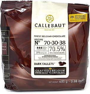 comprar comparacion Callebaut N° 70-30-38 (70,5%) - Cobertura de Chocolate Negro Belga - Finest Belgian Dark Chocolate (Callets) 400g