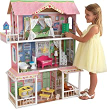 KidKraft Sweet Savannah Wooden Pretend Play Dollhouse with Furniture, Multi