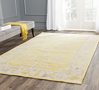 Safavieh Stone Wash Collection STW213A Hand-Knotted Yellow Premium Wool Area Rug (9' x 12')