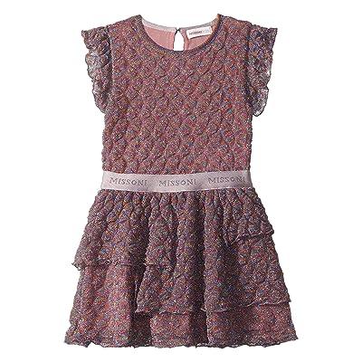 Missoni Kids Pizzo Lame Dress (Toddler/Little Kids) (Pink) Girl