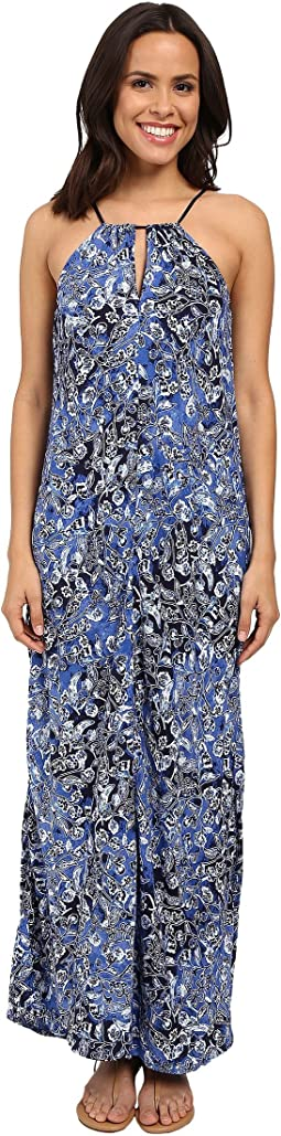 Lucky Brand - Indigo Floral Maxi Dress