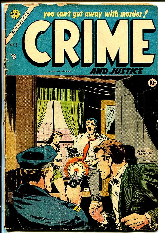 Crime and Great interest Justice #18 Albuquerque Mall 1954-Charlton-violent pre-code crime-Steve
