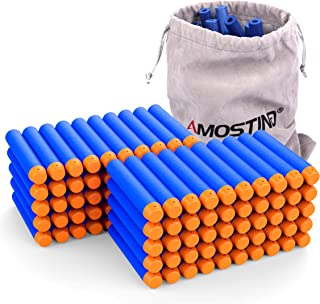 AMOSTING Refill Darts 100PCS Bullets Ammo Pack for Nerf N-Strike Elite Series – Blue