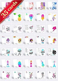 """Tiny Love Cards - Set of 35 Cute Mini Cards for Hand-Written notes - ANY Occasion - 2"""" x 3.5"""", Small Note Cards (Assortment)"""