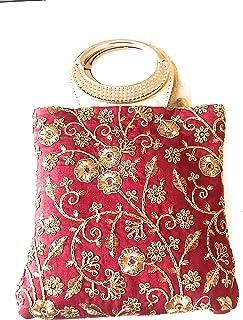 Damen Vintage Stil Perlen und Pailletten Abendtasche Hochzeit Party Handtasche Clutch Geldbörse