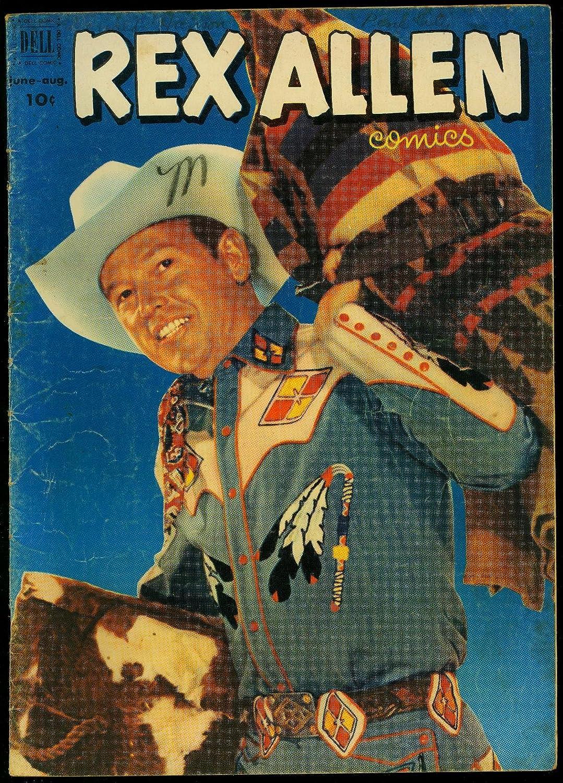 Rex Allen Comics #5 1952- service Photo 4 years warranty Western- cover VG- Dell
