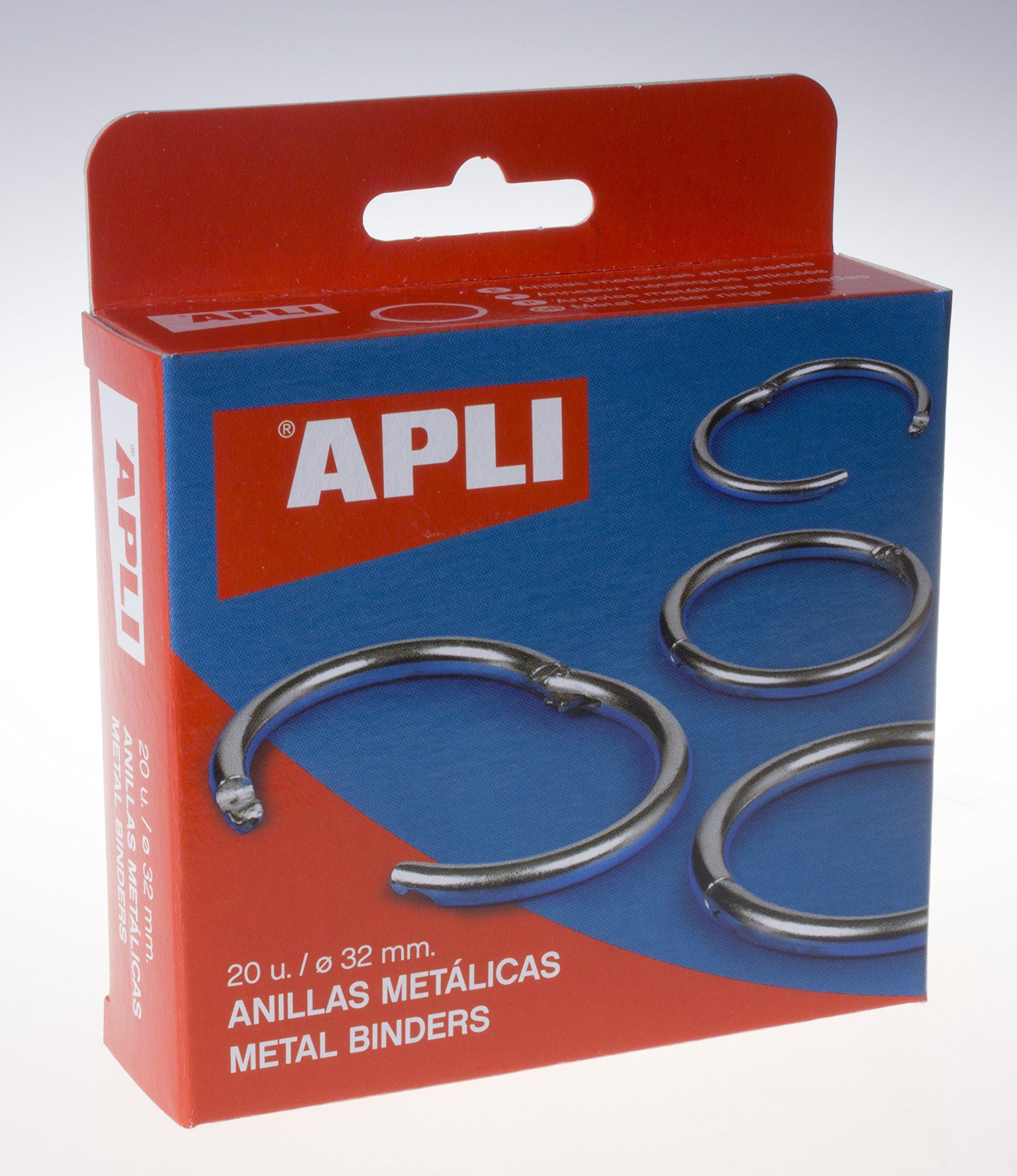 APLI 453 - Caja con 20 anillas metálicas (32 mm): Amazon.es: Oficina y papelería