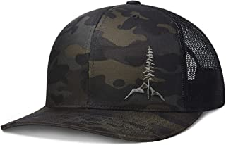 Larix Gear Multicam Hat, Black Trucker Hat, Snapback Hats for Men Women