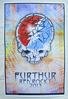 2013 Furthur Dead Skull Concert Poster