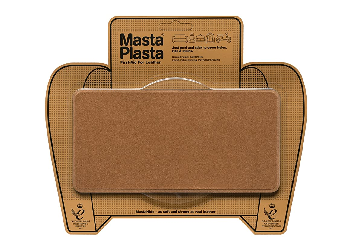 MastaPlasta Self-Adhesive Patch for Leather and Vinyl Repair, Large, Suede, Tan - 8 x 4 Inch - Multiple Colors Available