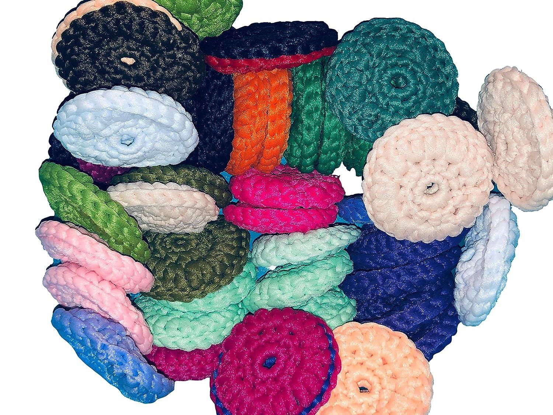 Set of 3 hand crochet SOFT Max 51% OFF dish approx free 5 ☆ popular 3