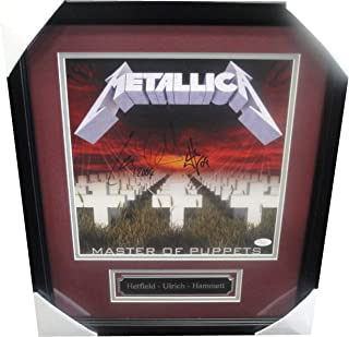 James Hetfield Lars Ulrich Kirk Hammet Signed Master Of Puppets Metallica JSA