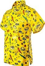 Funny Guy Mugs Men's Seasonal Hawaiian Print Button Down Short Sleeve Shirt