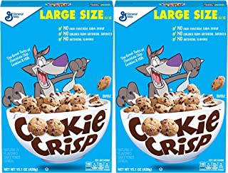 Cookie Crisp Cereal, Chocolate Chip Cookie Flavored, 15.1 oz (pack of 2)