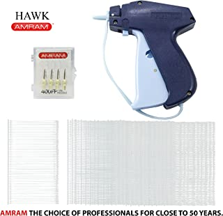 Amram Hawk Tagging Gun for Clothing with 1250 Pieces of 2 Inch Attachments and 5 Needles; Fine Tagging Applications