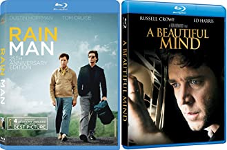 A Beautiful Mind + Rain Man Blu Ray ACADEMY AWARDS Wining Brilliant minds movie Set