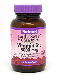 Bluebonnet Nutrition Earthsweet Chewable Vitamin B-12 5000 Mcg, 60 Count