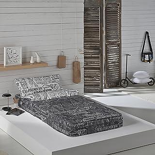 Munich Jet Grey - Saco nórdico para cama de 90 cm (con relleno)
