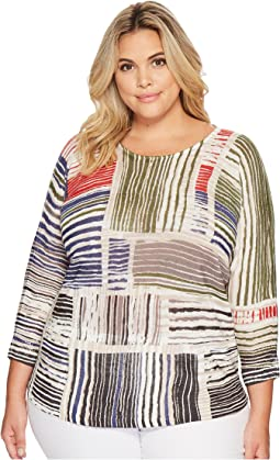 Plus Size Paprika Pop Top