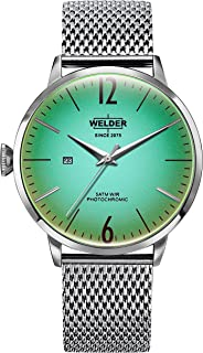 Welder Moody Stainless Steel Mesh 3 Hand Watch with Date 45mm