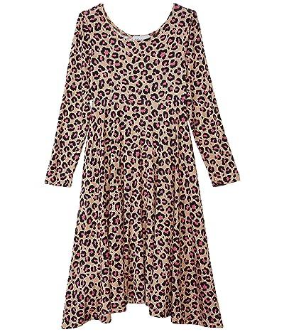 fiveloaves twofish Emma Dress (Little Kids/Big Kids) (Pink Leopard) Girl