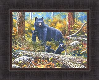 NEW DISCOVERIES by Kevin Daniel 17x21 FRAMED PRINT PICTURE Bear Cubs Black Bears