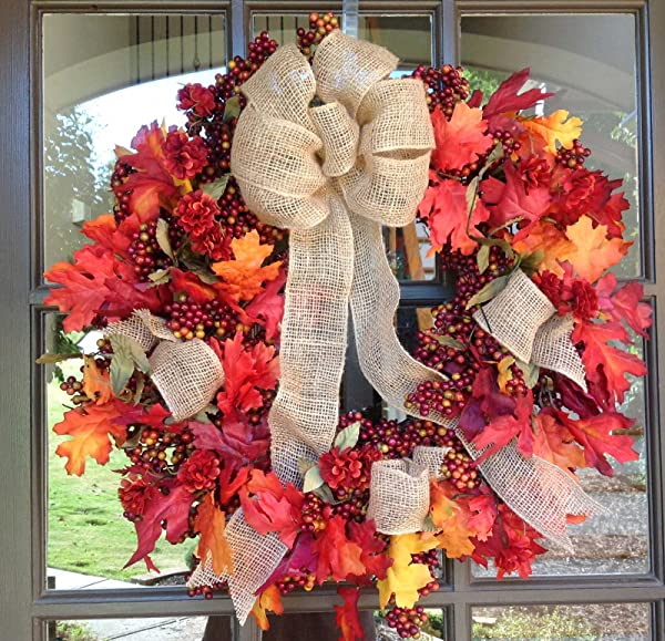 Flora Decor Fall Mix Bittersweet Wreath 24