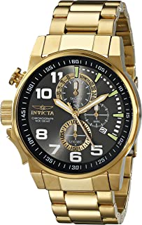 Men's 17416 I-Force 18K Gold Ion-Plated Stainless Steel Watch