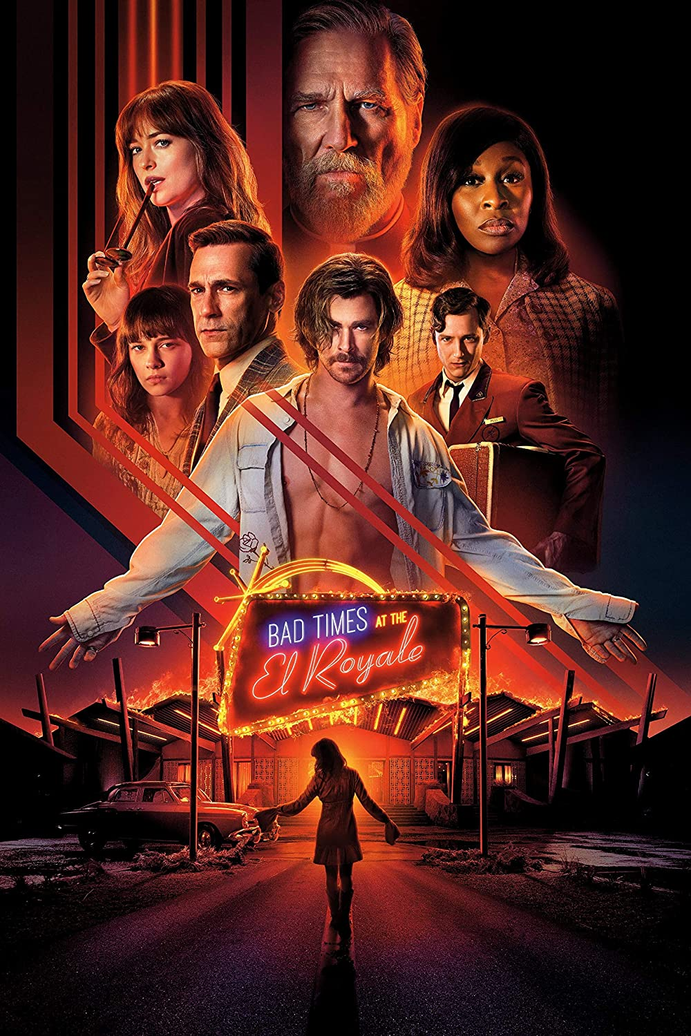 Black Creations Bad Times at the El Royale 1 Movie Poster Canvas Picture Art Print Premium Quality A0 A1 A2 A3 A4 (A0 Canvas (30 40))