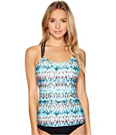 Next by Athena - Tadasana Tribal Third Eye 3 Shirr Tankini Top