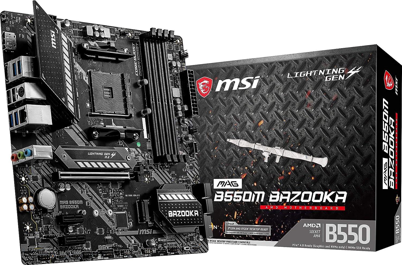 MSI MAG B550M BAZOOKA AMD Micro ATX Motherboard $90  Coupon